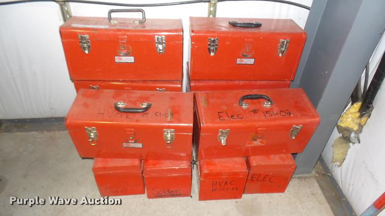 (10) Malco metal toolboxes