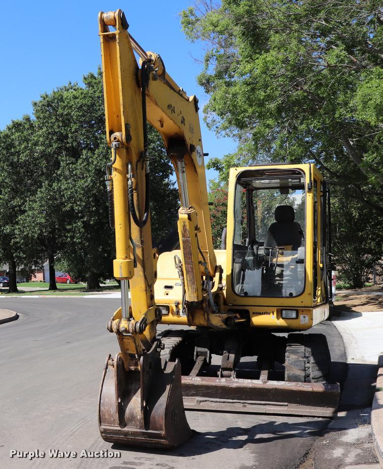 2001 Komatsu PC75 mini excavator