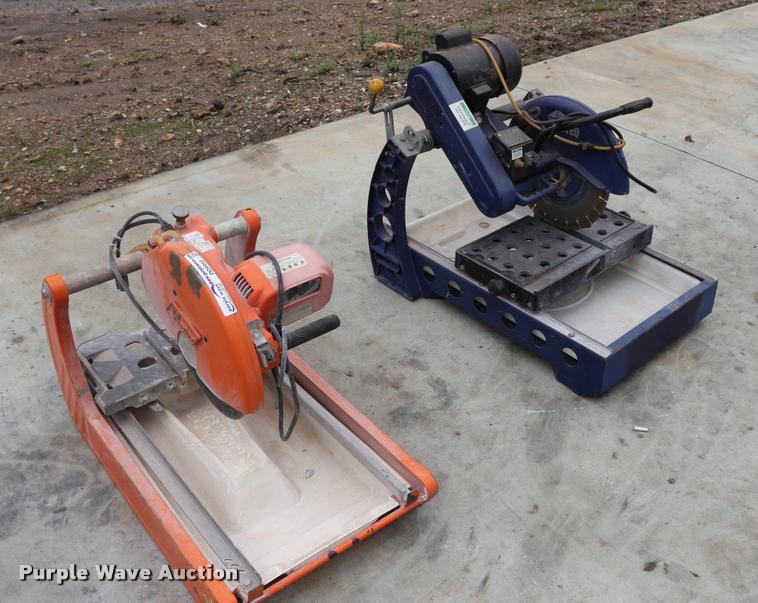 (2) tile saws