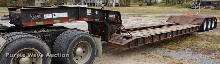 1996 Witzco Challenger RG35 lowboy equipment trailer