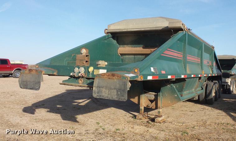 2000 R-way 3521TRI bottom dump trailer