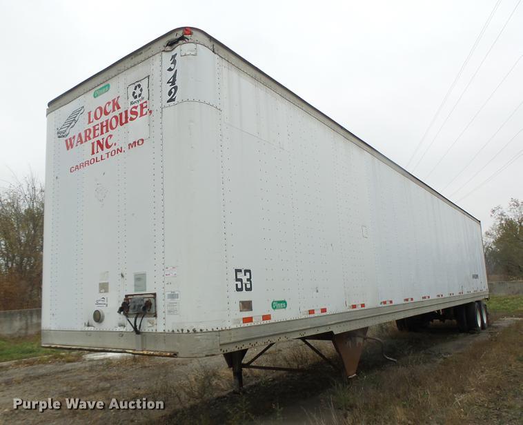 1998 Pines dry van trailer