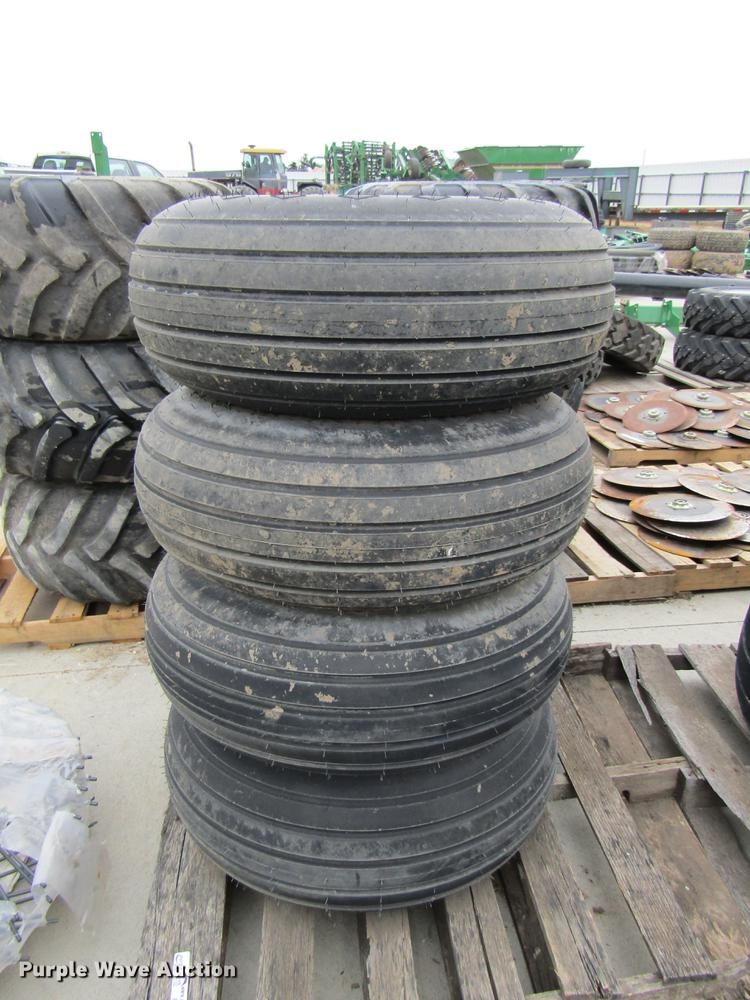 (4) Goodyear 12.5L-15SL implement tires