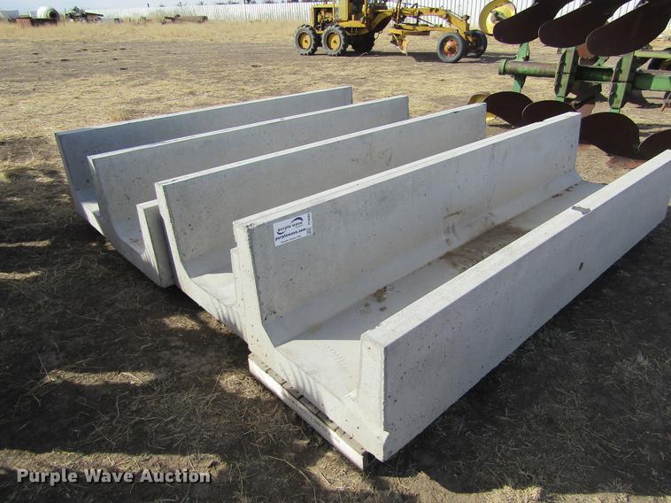 (4) concrete feed bunks