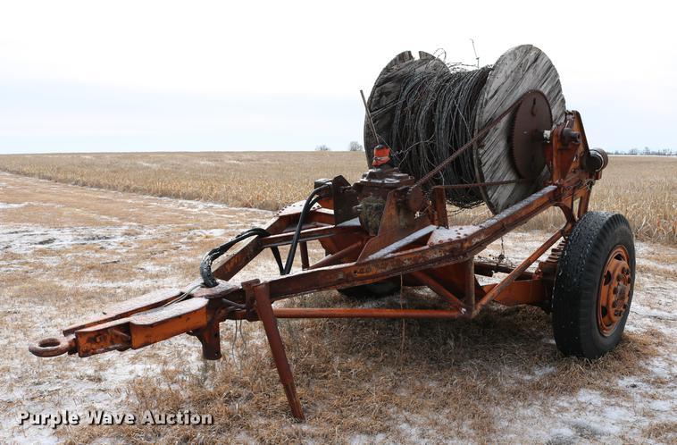 Highway Trailer Company wire reel trailer