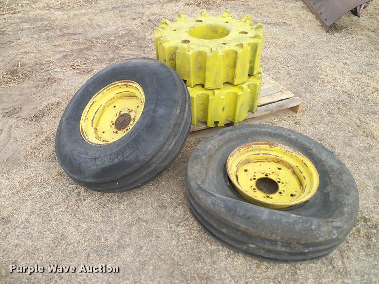 John Deere 4020 tires and wheel weights