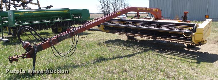 2002 New Holland 1475 haybine windrower