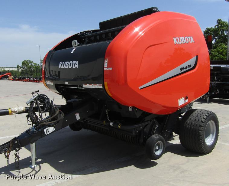 2017 Kubota BV4580 round baler