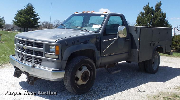 1994 Chevrolet Cheyenne 3500HD utility bed pickup truck