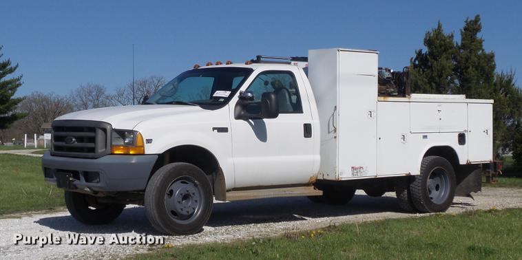 1999 Ford F550 Super Duty service truck with crane
