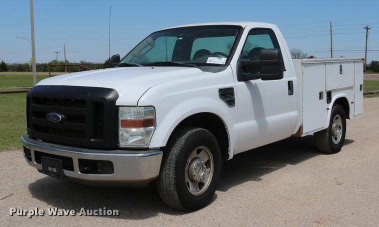 2008 Ford F250 Super Duty utility bed pickup truck