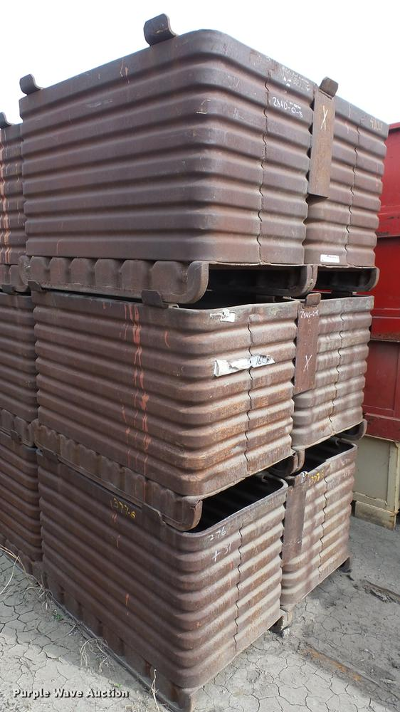 (6) steel storage bins