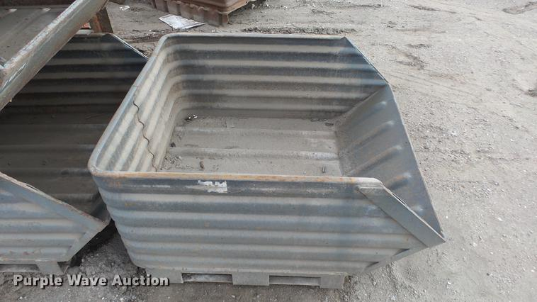 (8) steel storage bins