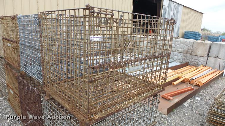(6) Pattetainer steel cages