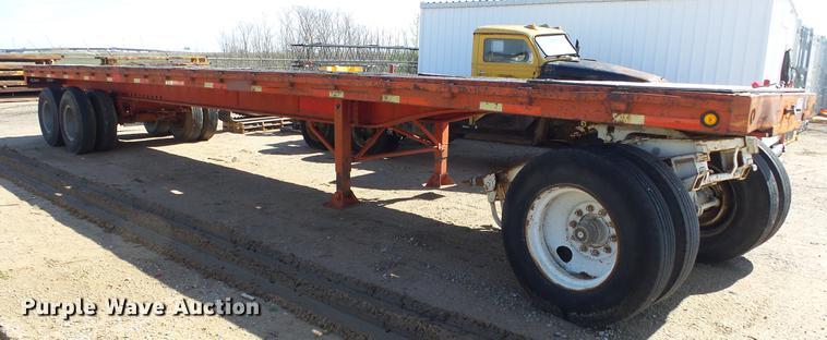 1972 Trailmobile P41T0SAH flatbed trailer