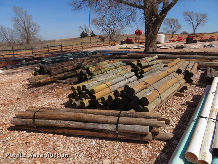 (5) bundles wood fence posts