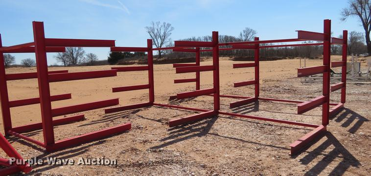 (3) steel racks
