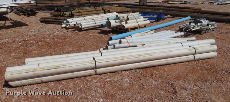 (8) bundles plastic pipe
