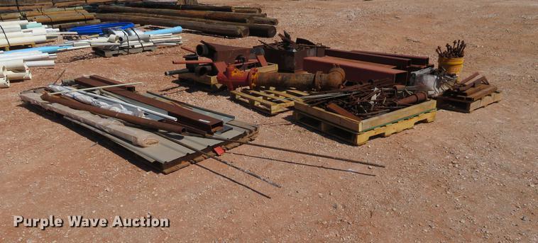(7) pallets of metal