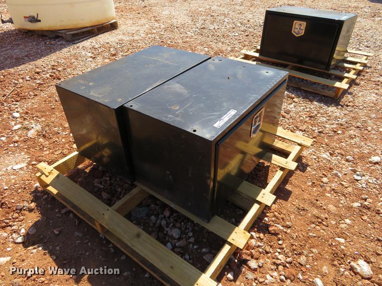 (2) steel toolboxes