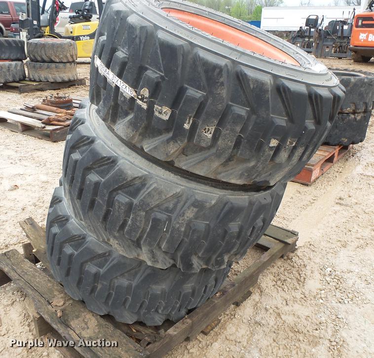 (3) Bobcat 31 x 12 x 16.5 tires and wheels