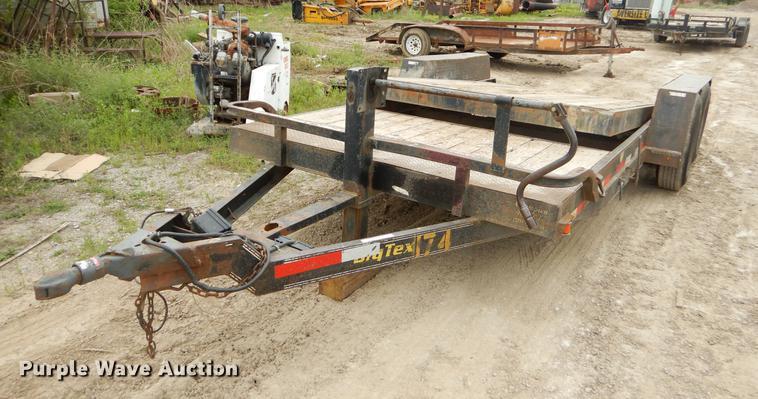2004 Big Tex tilt deck utility trailer