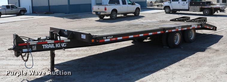 2002 Trail King TK40LP-2600 equipment trailer