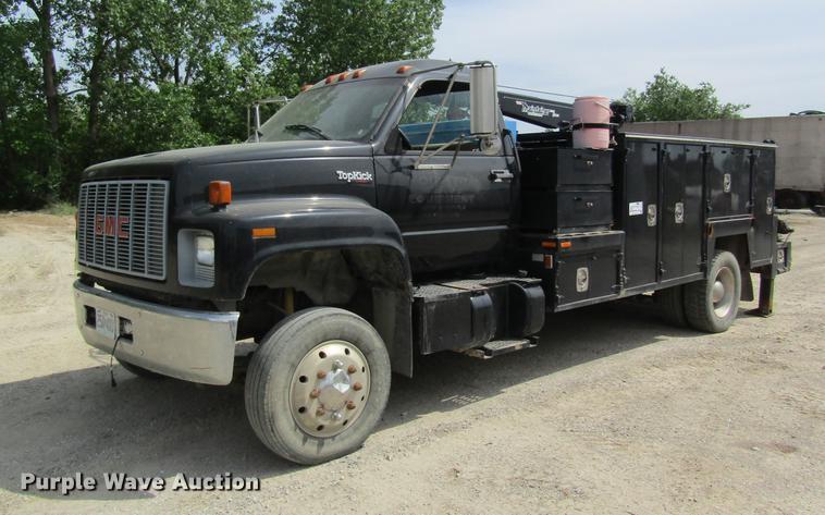1996 GMC TopKick service truck with crane