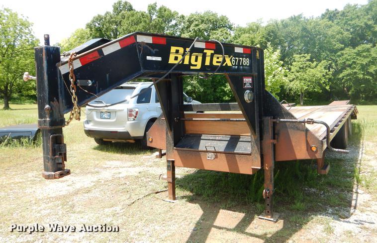 2013 Big Tex 22GN20BK5CP equipment trailer