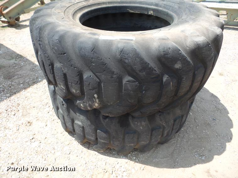 (2) 17.5-25 tires