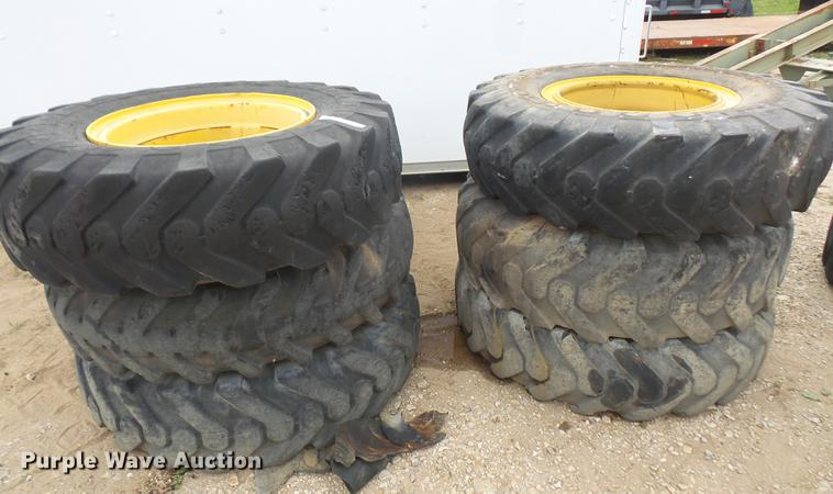 (6) 14.00-24 tires and wheels