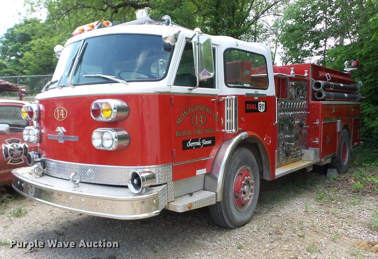 1981 American Lafrance pumper fire truck