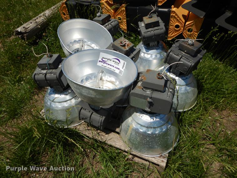 (8) Halide light fixtures
