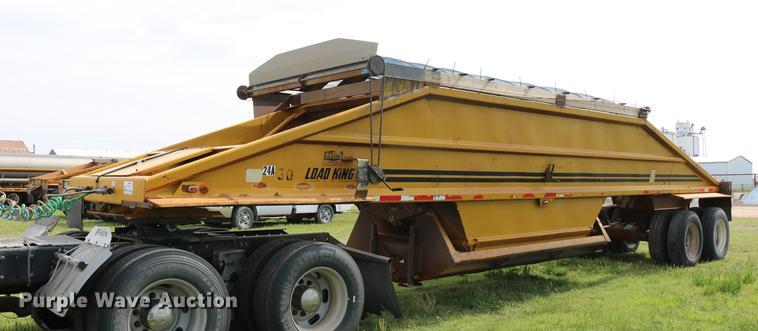1983 Load King 1827-I bottom dump trailer