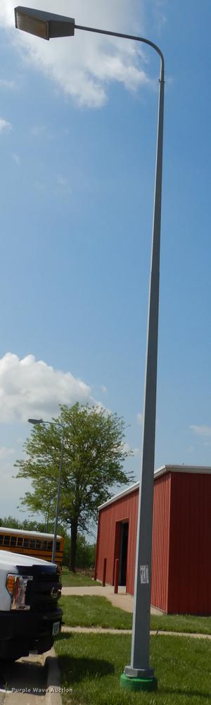 (15) metal light poles with lights