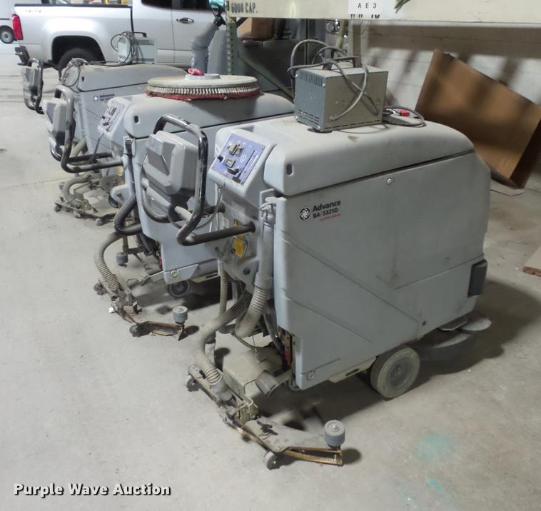 (3) Advance BA5321D floor scrubbers