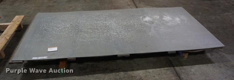 (7) 8' x 4' galvanized steel sheets