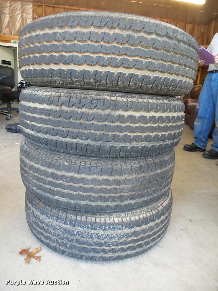 (4) ST225/75R15 tires