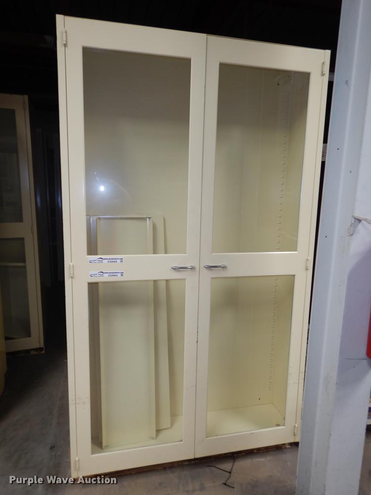 (5) metal pharmacy cabinets
