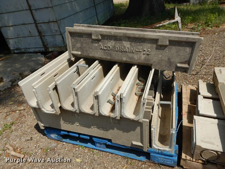 Approximately 20 concrete drainage units