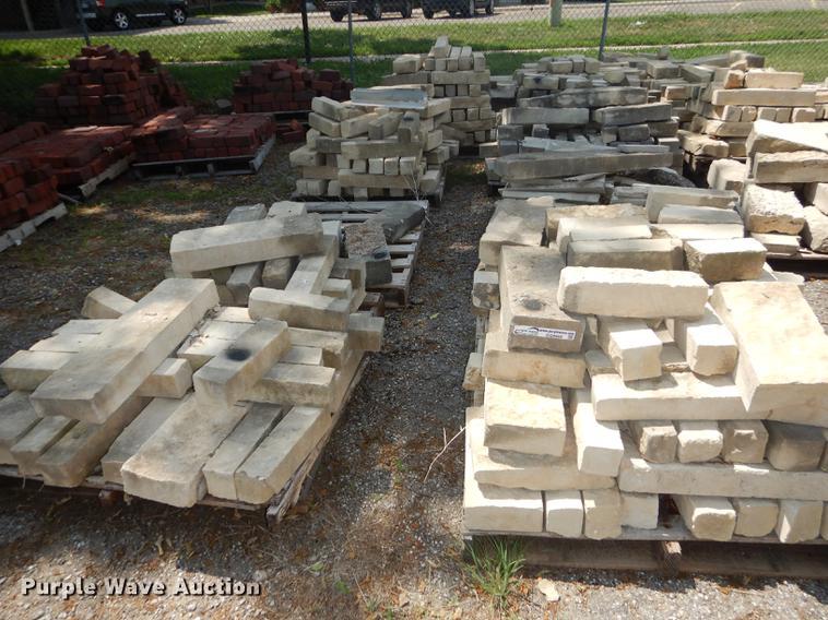Approximately 175 limestone landscape blocks