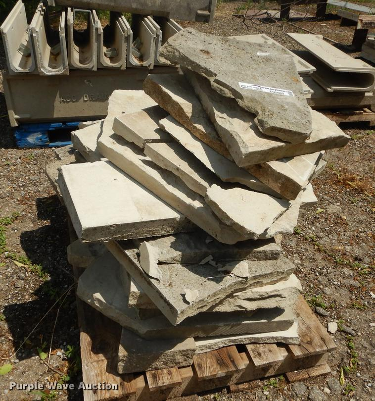 Approximately 100 limestone pieces