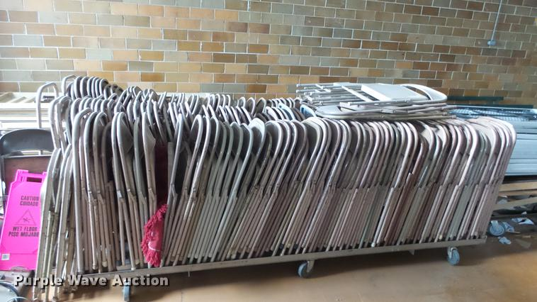 Approximately 200 metal folding chairs