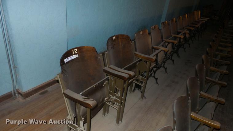 (6) 1928 theater seats