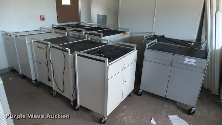 (16) Bretford computer storage carts