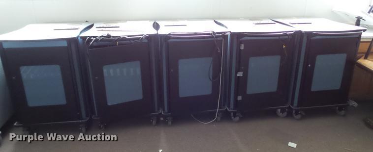 (5) computer storage carts