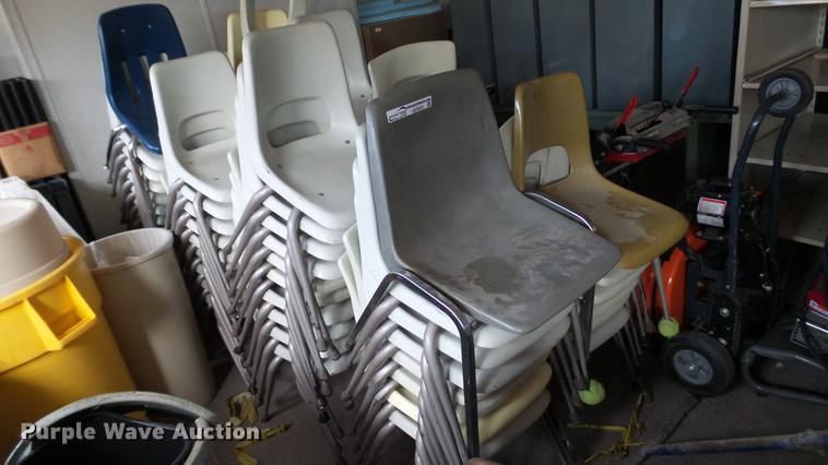 (75) plastic chairs