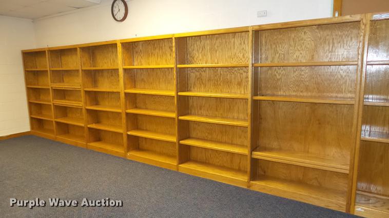 Approximately 28 bookshelves