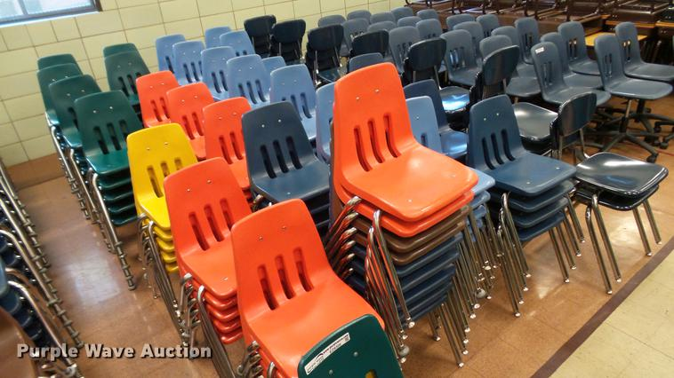 Approximately 130 plastic chairs