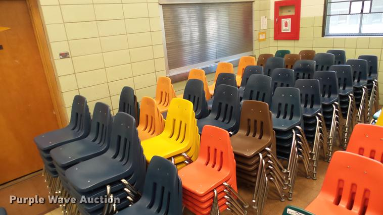 Approximately 200 plastic chairs